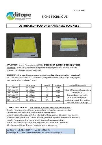 Obturateur polyuréthane