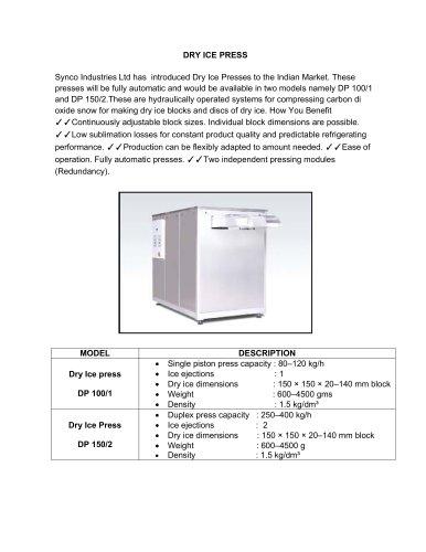 Dry Ice Press