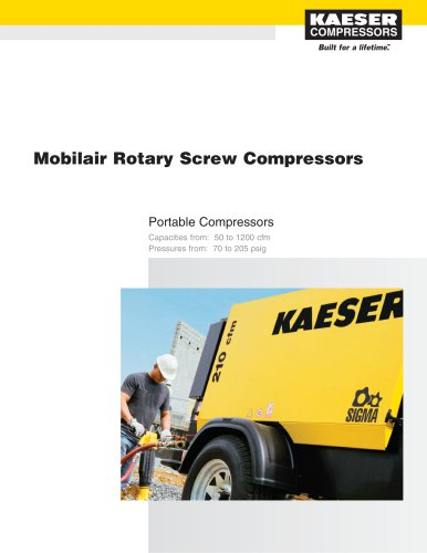 Mobilair Portable Compressor Brochure