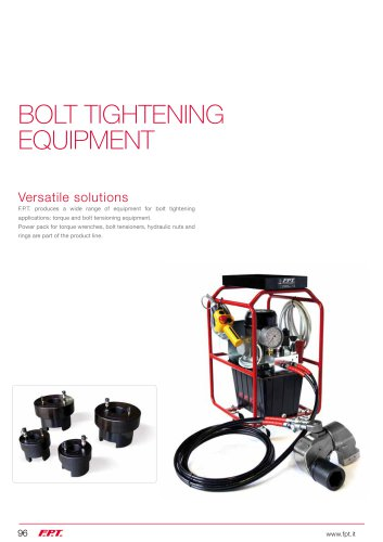 BOLT TIGHTENING  EQUIPMENT