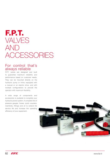 F.P.T. VALVES AND ACCESSORIES