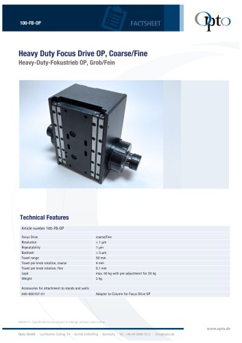 100-FB-OP HeavyDuty