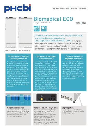 Congélateurs Biomedical ECO -30 °C