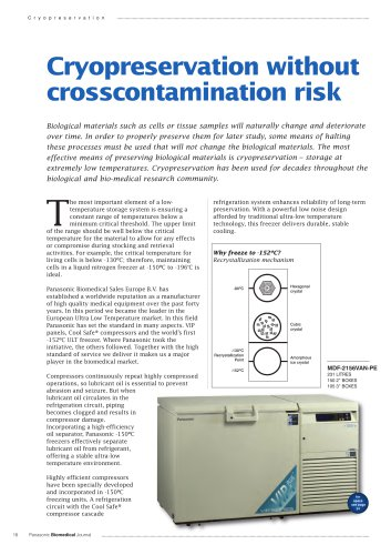 Cryopreservation without crosscontamination risk