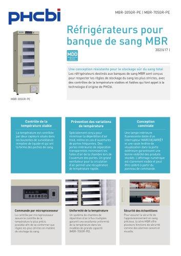 MBR-305GR-PEBR-305GR-PE & MBR-705GR-PE Blood Bank Refrigerator