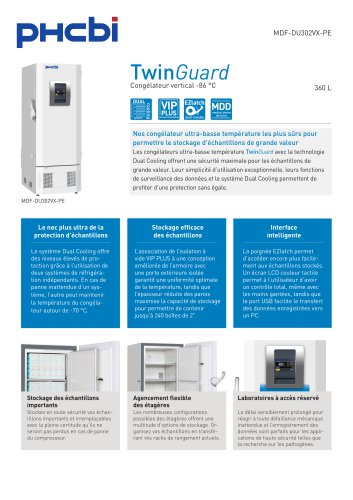 MDF-DU302VX-PE Congélateur vertical -86 °C