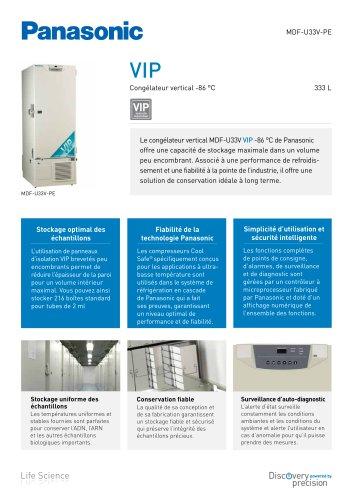 MDF-U33V VIP Congélateur vertical -86 °C