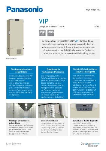 MDF-U55V VIP Congélateur vertical -86 °C