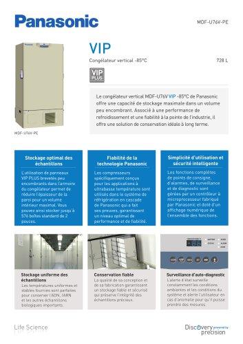 MDF-U76V VIP Congélateur vertical -85°C