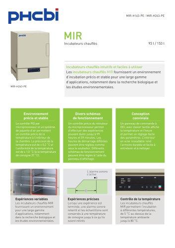 MIR-H163-PE & MIR-H263-PE Incubateurs chauffés