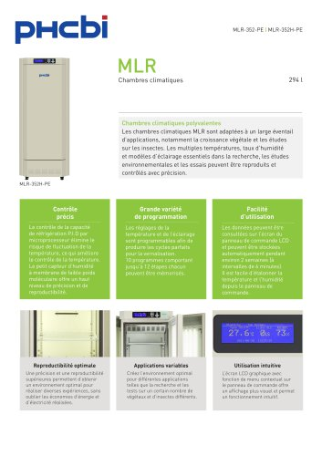 MLR-352-PE Chambre climatique