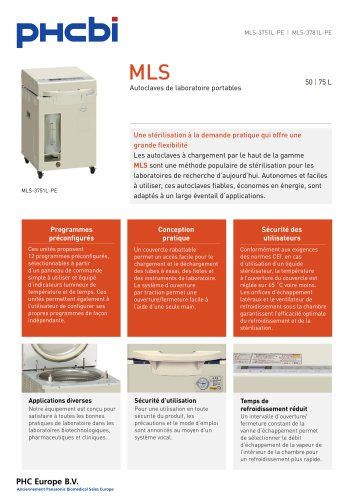 MLS-3751L-3781L Autoclaves de laboratoire portables
