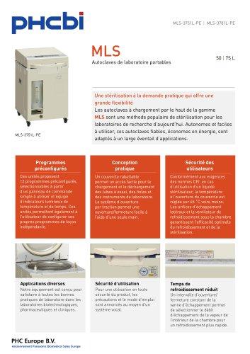 MLS-3751L-PE Autoclaves de laboratoire portables