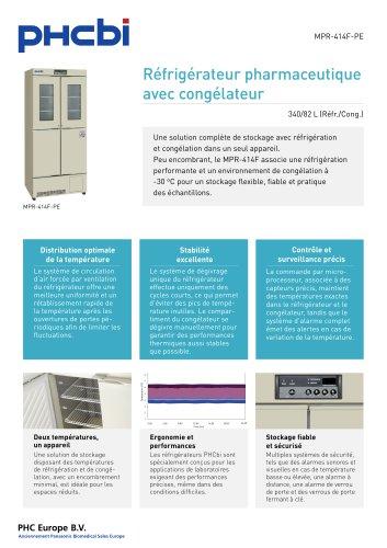 MPR-414F-PE Réfrigérateur pharmaceutique avec congélateur