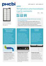 MPR-500(R)H-PE Réfrigérateurs pharmaceutiques MPR à porte coulissante