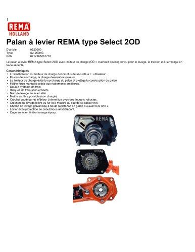 Palan à levier REMA type Select 2OD