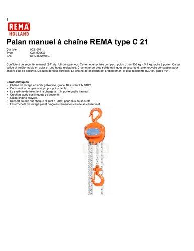 Palan manuel à chaîne REMA type C 21