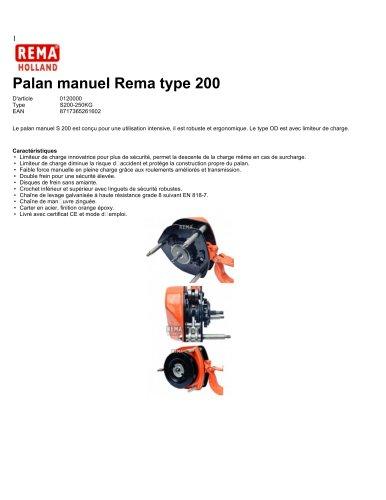 Palan manuel Rema type 200