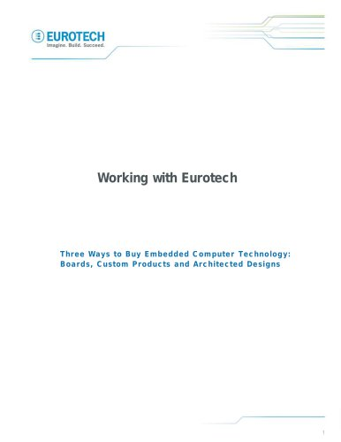 Working with Eurotech