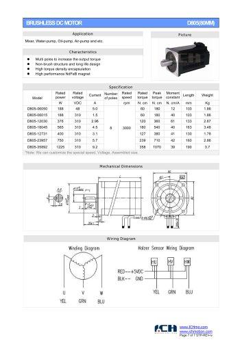 BRUSHLESS DC MOTOR D805(80MM)