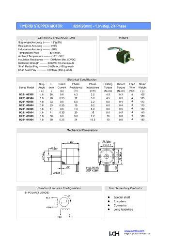 H281(1.8degree)28mm-2/4 phase