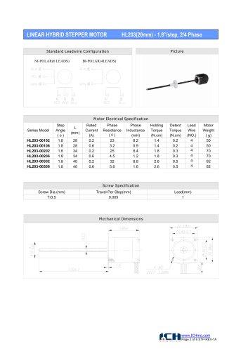HL203(1.8degree)20mm-2/4 phase