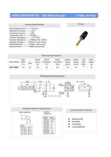 HYBRID STEPPER MOTOR H201-00202A+Encoder