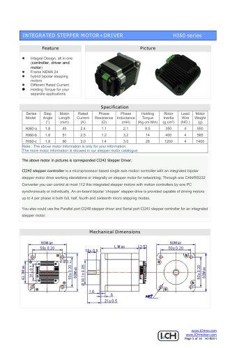 Integral Stepper Motor HI60