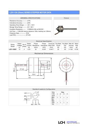 Linear Stepper L251-128(25mm)