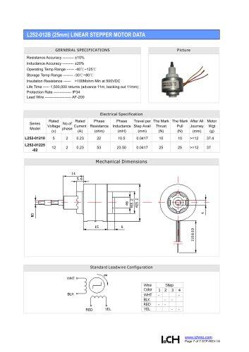 Linear Stepper L252-012B(25mm)