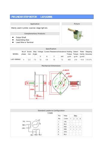 Linear Stepper L421-0806A2(42mm)