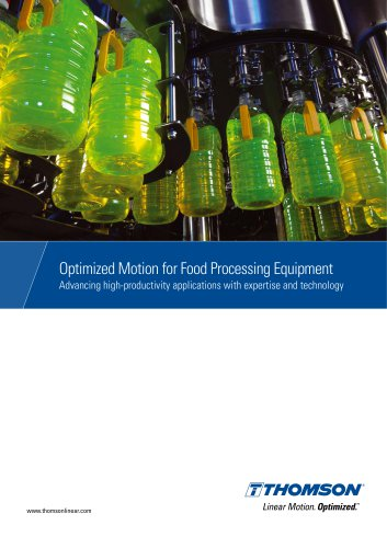 Optimised Motion for Food Processing Equipment