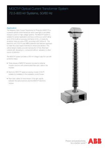MOCT-P Optical Current Transformer System