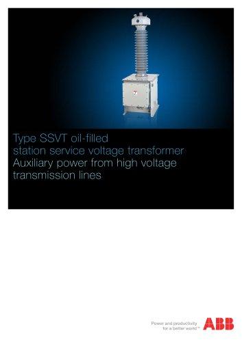 Type SSVT oil-filled station service voltage transformer