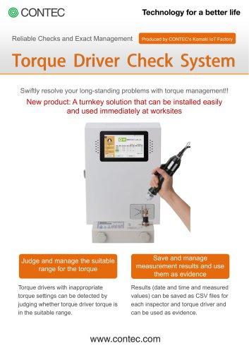CONPROSYS Alpha Torque Driver Check System