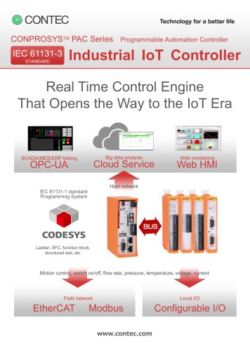 """M2M/IoT Solutions """"CONPROSYS PAC series"""""""