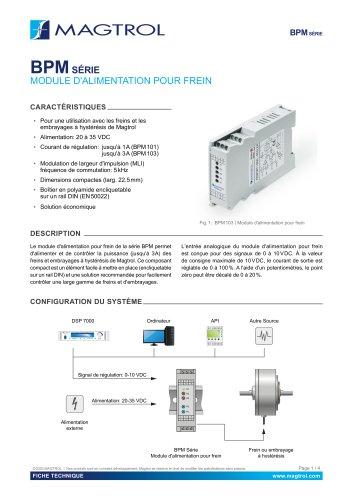 BPM Series   Module d'alimentation pour frein