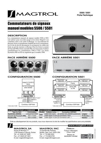 Commutateurs de signaux manuel modèles 5500 / 5501