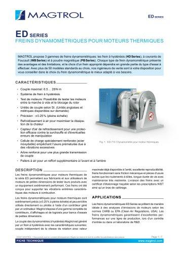 ED Série    Freins dynamométriques pour moteurs thermiques