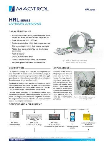 HRL Series - Capteurs d'ancrage