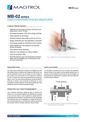 MB-02 Series   Axes dynamométriques miniatures