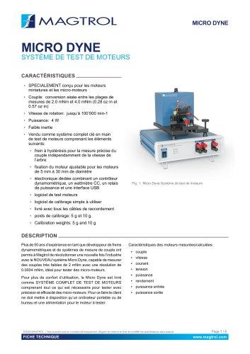 Micro Dyne   Système de test moteurs