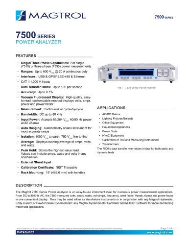 Model 7500 Series | Power Analyzer