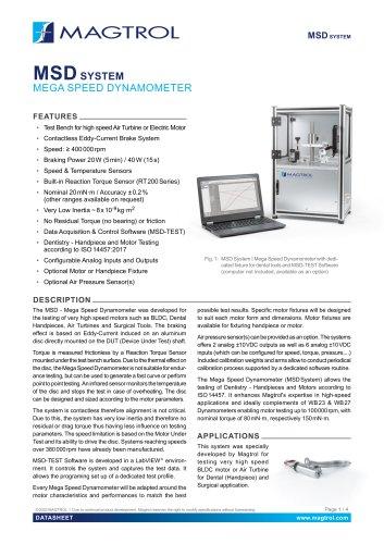 MSD   Mega Speed Dynamometer