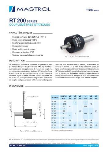 RT 200 Série | Couplemètre statique