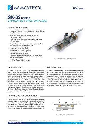 SK-02 Série | Capteur de force sur câble