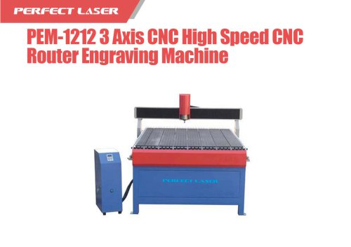 Perfect Laser - 3 Axis CNC High Speed CNC Router Engraving Machine PEM-1212