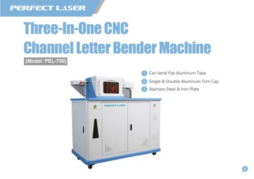 Perfect Laser - CNC Channel Letter Bender Machine PEL-700