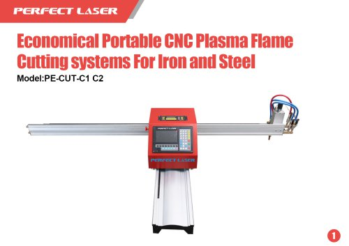 Perfect Laser Economical Portable CNC Plasma Flame Cutting systems For Iron and Steel PE-CUT-C1 C2