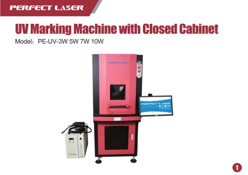 Perfect Laser Fiber Laser Marking Machine with cabinet PE-UV-3W 5W 7W 10W